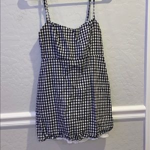Super cute black and white checkered dress.